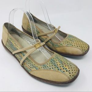Rieker Beige Multicolor Beige Perforated Shoes 42